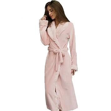 Tina Winter Flannel Sexy Women Sleep & Lounge Mujer Batas Loose Sleep para Mujer Pijama Coral