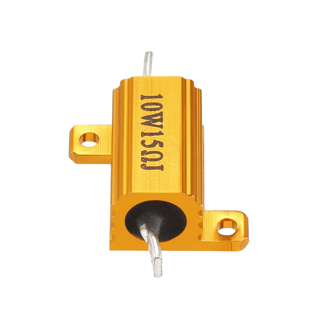 sourcingmap Aluminum Case Resistor 10W 15 Ohm Wirewound for LED Converter with Rod Post 10W15RJ