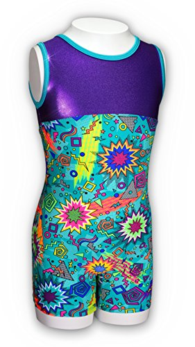 Pelle Girls' Zack Attack Gymnastics Biketard
