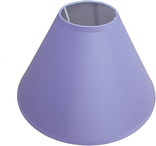 Pantalla para lámpara, 23 cm, para techo o mesa, color lila ...