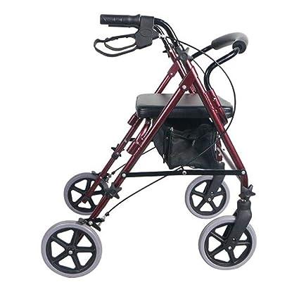 Rolling Walkers Andador con Ruedas de Transporte de Movilidad para Adultos JFW-Aluminio con Ruedas
