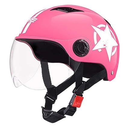 Amazon.es: Cascos de Motocicleta de Verano Scooter de Bicicleta ...
