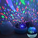Rose Romantic Moon Cosmos Sky Star 360 Degree Rotating Projection Light for Friends and Family Flower Shape Starry Night Projector LED Lamp