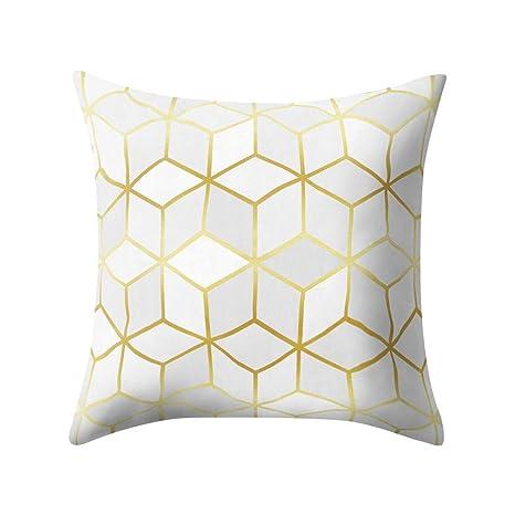 Amazon.com: TOPBIGGER Geometric Pattern Polyester Pillowcase ...