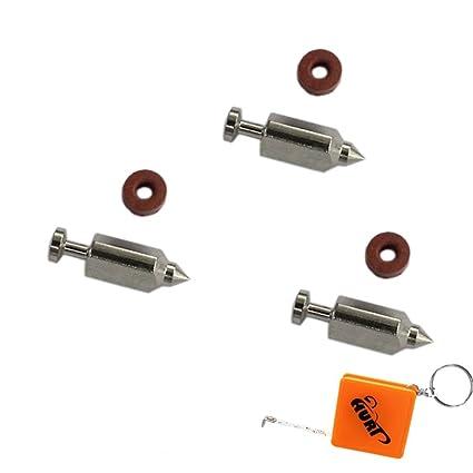 Huri 3 x carburador punzón aguja válvula flotador asiento asiento válvula para Briggs & Stratton 398188