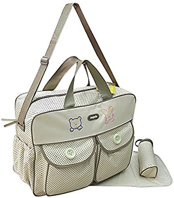 Bolsa Cambiador para Bebé XXL con 3 Artículos Color Beis Bolsa para Cuidados del Bebé Bolso de Viaje - Selección de Colores