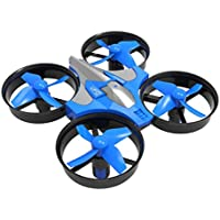 Tiean Mini 2.4G 4CH 6Axis Gyro Headless Altitude Hold LED Remote Control RC Quadcopter (Blue)