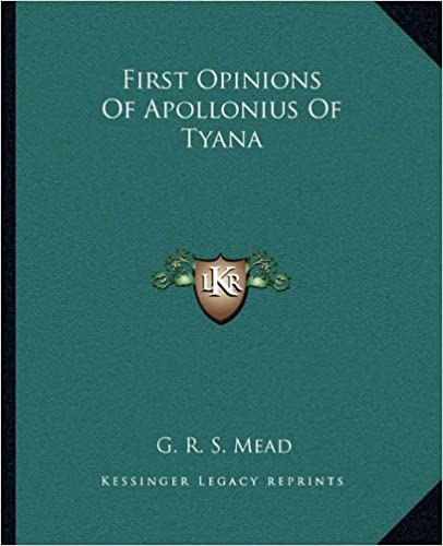 First Opinions of Apollonius of Tyana
