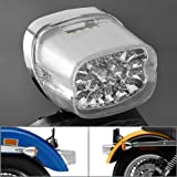 Astra Depot Clear 45-LED Tail Brake Stop Light Integrated Turn Signal Blinker Lamp For Harley Softail FLST FXST FXSTC Road King Super Glide Custom FXDC