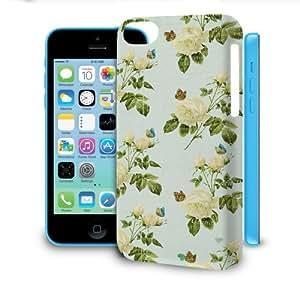 Phone Case For Apple iPhone 5C - Vintage Yellow Roses Designer Premium