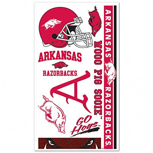 - Arkansas Razorback Temporary Tattoos