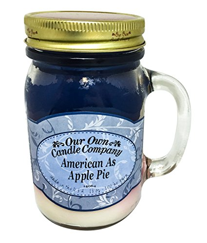 Our Own Candle Company American As Apple Pie Scented 13 Ounce Mason Jar Candle All American Apple Pie
