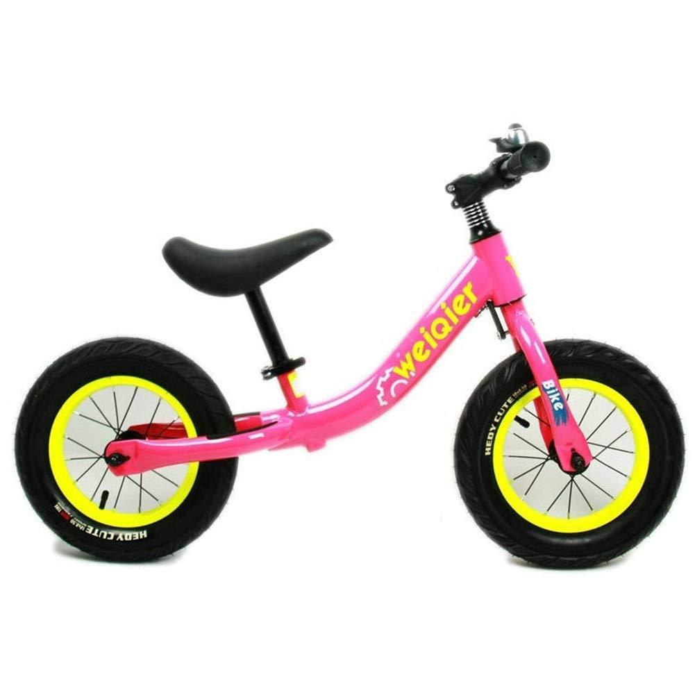 12インチショックアブソーバータイヤ付きバランスバイク、ペダルなしランニングバイク、調整可能なハンドルバーとシート、2歳から6歳までのエクササイズバランス、ピンク ZHAOFENGMING (Color : Pink, Size : As shown) B07T1YHTJC Pink As shown