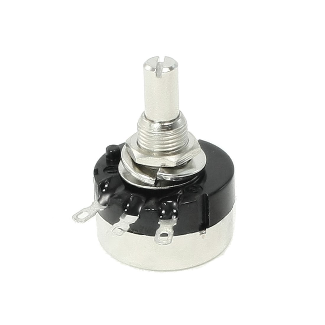 Uxcell RV24YN20S/B202 Round Shaft Carbon Film Rotary Taper Potentiometer, 2K Ohm, 6 mm a13060400ux0020