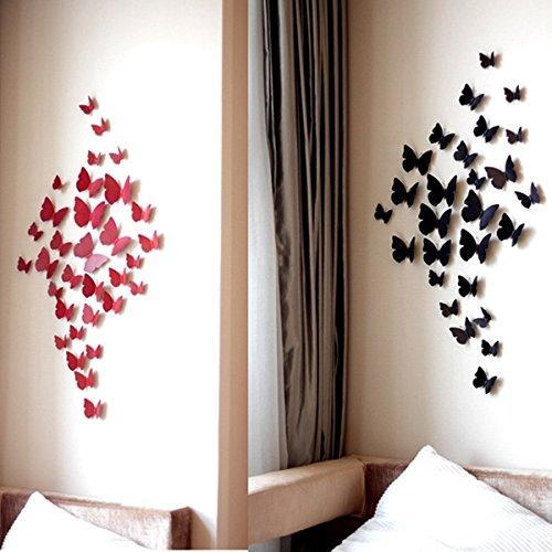 Senior Citizen Day Costume Ideas (Wall Art - Honana Dx- 889 12pcs 3d Butterfly Sticker Diy Art Decal Home Decor Wall Mural Stickers Wedding Decoration Gift)