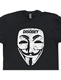 Guy Fawkes Mask T Shirt Anonymous Disobey Shirts Internet Troll Political V Tshirt Bitcoins For Vendetta Code Anarchy Hacker Tee