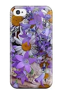 Unique Design Iphone 4/4s Durable Case Cover Summer Flowers