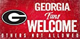 NCAA Georgia Bulldogs 12'' x 6'' Distressed Welcome to Our Home Wood Sign