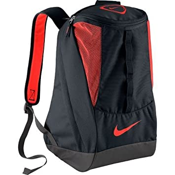8304a76a6 Image Unavailable. Image not available for. Color: Nike Soccer Shield  Compact Backpack Red/black