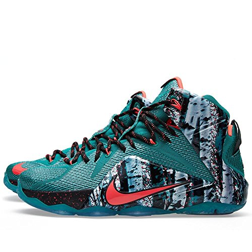 Nike LeBron XII Herren Basketballschuhe Emrld Green, Hypr Pnch-dk Emrld