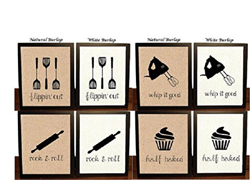 Amazon Com Set Of 4 Kitchen Wall Decor Kitchen Sign Kitchen Art
