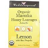 Wedderspoon Active Manuka Honey Lozenges Lemon with Bee Propolis - 4 oz