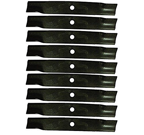 (9 Pack - Stens 330-501 Hi-Lift Blades for John Deere Mowers w/ 60