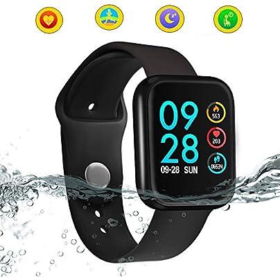 HuaYangNanHai Fitness Tracker Smart wristband Blood Pressure Blood Oxygen Heart Rate Monitor Sleep Activity Tracker Fitness Smart band IP68 Waterproof Black Estimated Price -