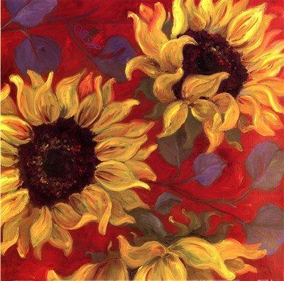 (Sunflower II by Shari White - 12x12 Inches - Art Print Poster )