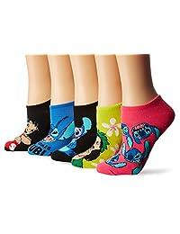 Disney womens standard Lilo & Stitch 5 Pack No Show Socks