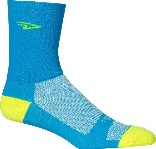 Defeet D Logo 5In Double Cuff Sock Process Blue  L   Mens