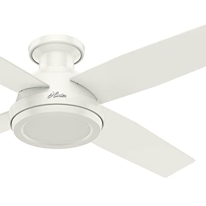 Hunter fan 52 contemporary low profile ceiling fan with remote hunter fan 52quot contemporary low profile ceiling fan with remote control in fresh white aloadofball Choice Image