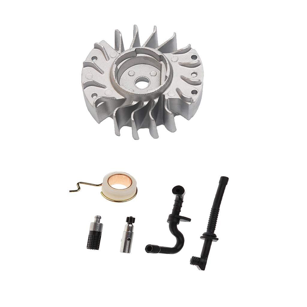 Sharplace Kit Volant d'inertie de chaîne Pompe à Huile pour Tronçonneuse Convient pour STIHL 017 018 MS170 MS180