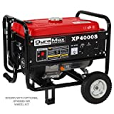 DuroMax XP4000S 7.0 HP Air Cooled OHV Gasoline Powered Portable RV Generator, 4000-watt, Red