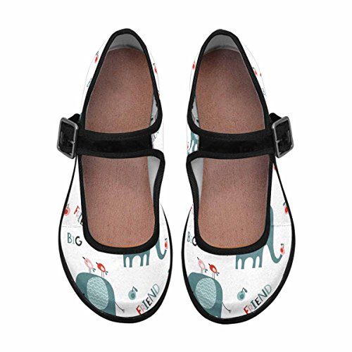 InterestPrint Womens Comfort Mary Jane Flats Casual Walking Shoes Multi 2 V467x