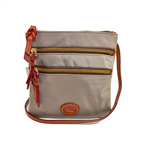 Triple Slim Nylon amp; Zip Crossbody Grey Dooney Bourke t4Rw6q