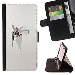 BullDog Case - FOR/HTC One M8 / - / ABSTRACT UNIVERSE STARS CONE POLYGON /- Monedero de cuero de la PU Llevar cubierta de la caja con el ID Credit Card Slots Flip funda de cuer