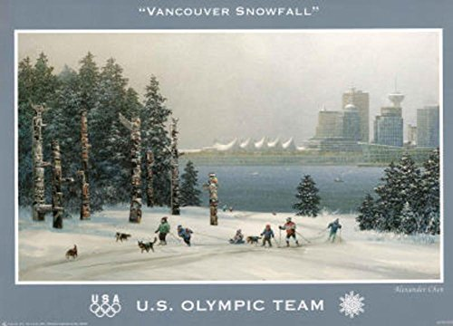 Vancouver Olympic Merchandise (Vancouver Snowfall U.S. Olympic Team Mini Poster 13 x 18in)