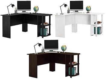 Bureau d ordinateur en forme de l grande table de pc avec