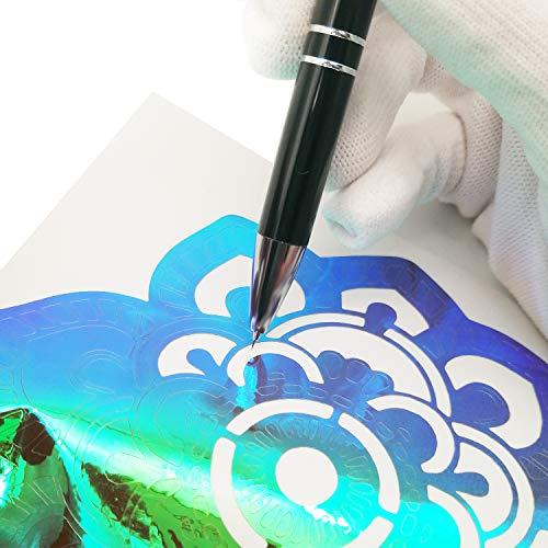 7MO Rectracting Air Release Tool Pen for Car Vinyl Installation Black 1 Pcs