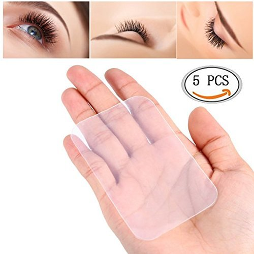IDS 5pcs Silicone False Lashes Holder Pad for Eyelash Extensions, Lash Holder, 3.5'' x 2.2''