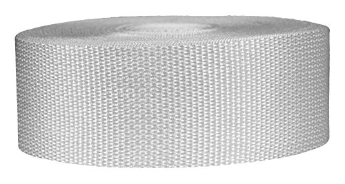 Strapworks Lightweight Polypropylene Webbing - Poly Strapping for Outdoor DIY Gear Repair, Pet Collars, Crafts - 2 Inch x 50 Yards - White