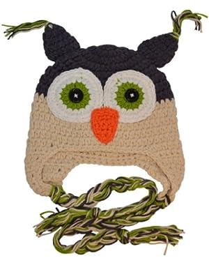Crochet Owl Beanie Hat - Sizes Newborn to 4 Years