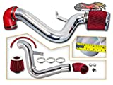 Rtunes Racing Cold Air Intake Induction Black / Red / Blue Dry Air Filter 1995-2002 Chevy Cavalier Pontiac / Sunfire SE GT Pontiac Grand AM 2.4L L4 Black (Red)