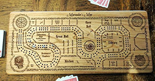 Harry Potter Inspired Marauder's Map Cribbage Board