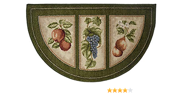 The Raise Kitchen Rug Kitchen Mat 19x32 Slice Wedge Kitchen Rug Mat Green Washable Mats Rugs Fruit Grapes Pears Kitchen Dining
