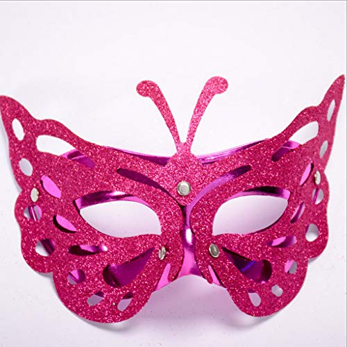 Carnival Simulation Butterfly Mask - Luxurious Filigree Masquerade Masks - Costume Cosplay Mask for Mardi Gras, Halloween Costume Party, New Year's Party ( Hot Pink) ()