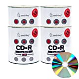 Smart Buy Shiny Silver Top CD-R 400 Pack 700mb 52x Blank Recordable Discs, 400 Disc, 400pk