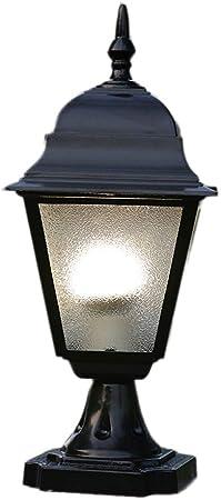 Poste de jardín al aire libre Vías de luz Césped Bolardo Lámpara de luz super brillante Columnas de ladrillo con postes Lámpara de pie impermeable IP55 En acabado negro: Amazon.es: Hogar