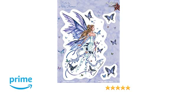 Nene Thomas Stic.. Net Sales JA343 Beautiful Lavender Purple Fairy with 2 Small Butterflies
